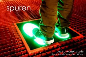 spuren - Deutsch Wortschatz - Wortschatzbilder