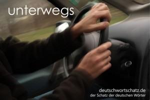 unterwegs - Deutsch Wortschatz - Wortschatzbilder