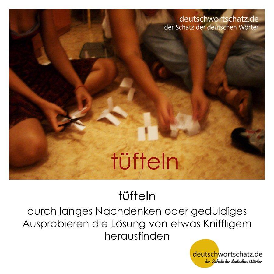 tüfteln - Wortschatz mit Bildern lernen - Deutsch lernen