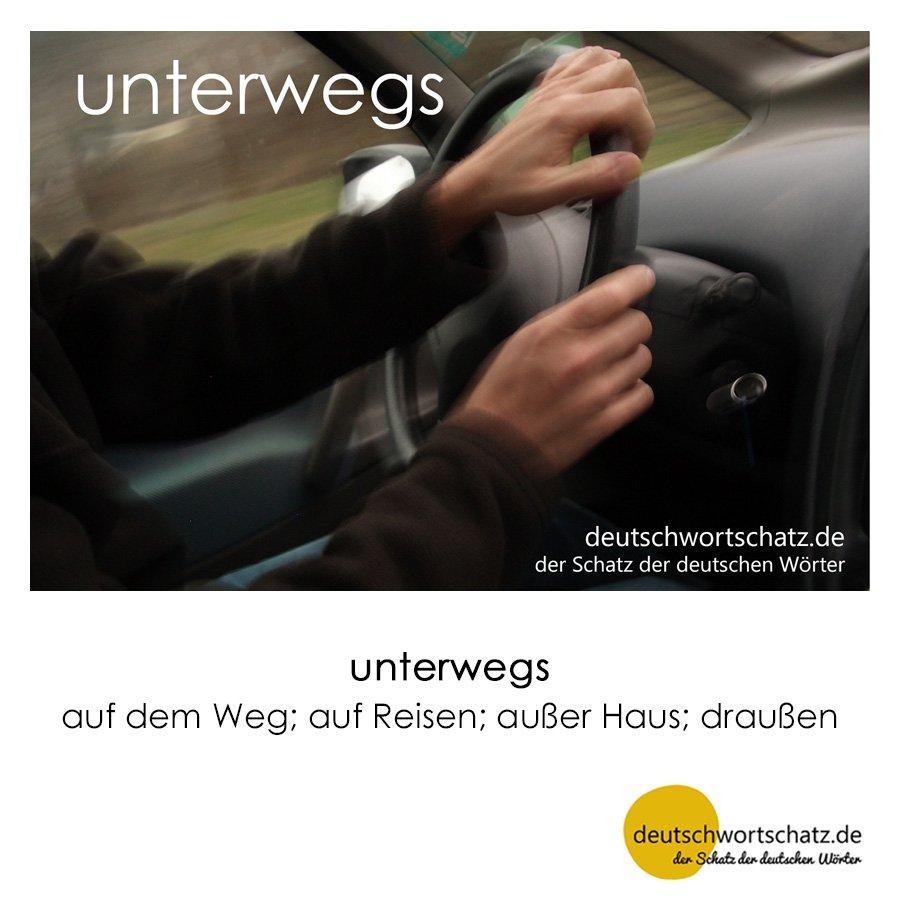 unterwegs - Wortschatz mit Bildern lernen - Deutsch lernen