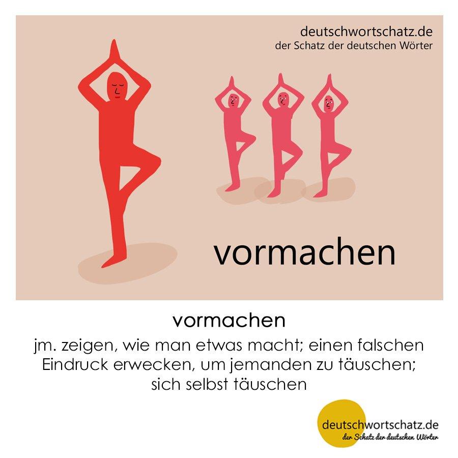 vormachen - Wortschatz mit Bildern lernen - Deutsch lernen