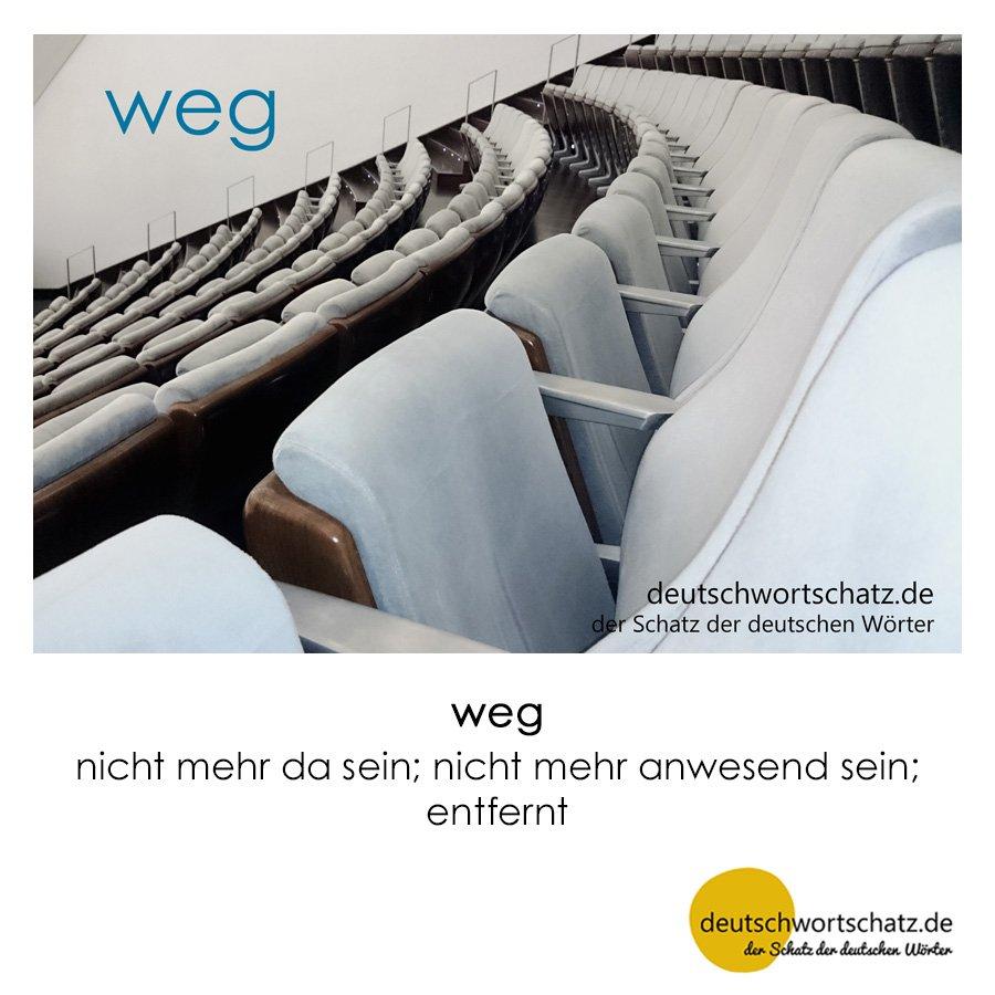 weg - Wortschatz mit Bildern lernen - Deutsch lernen