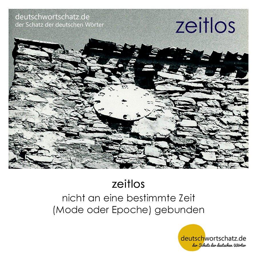 zeitlos - Wortschatz mit Bildern lernen - Deutsch lernen